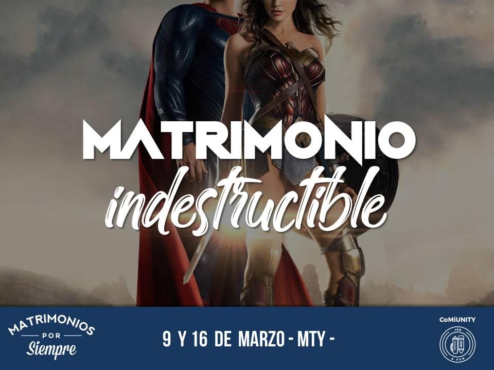 flyer matrimonio indestructible 2019